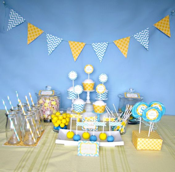 Blue Party Decorating Ideas best 20+ chevron party themes ideas on pinterest | yellow party