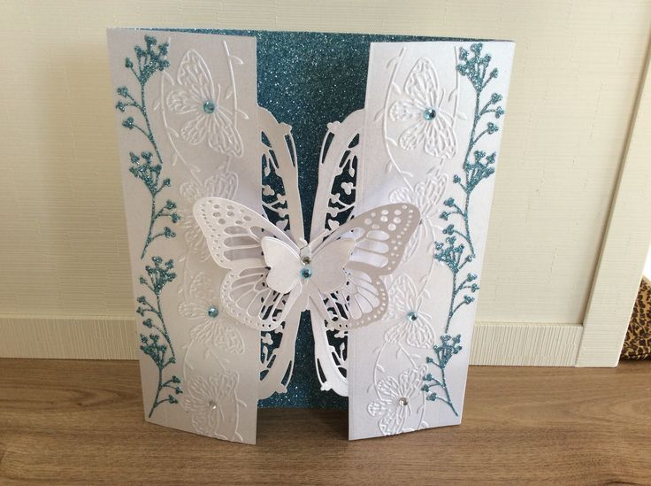 Couture Creation Mariposa dies and Tattered lace embossing folders