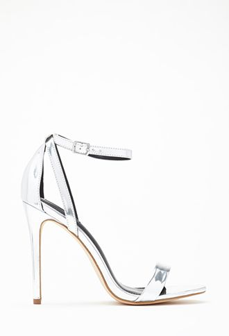 Metallic Ankle Strap Heels | FOREVER21 | #stepitup