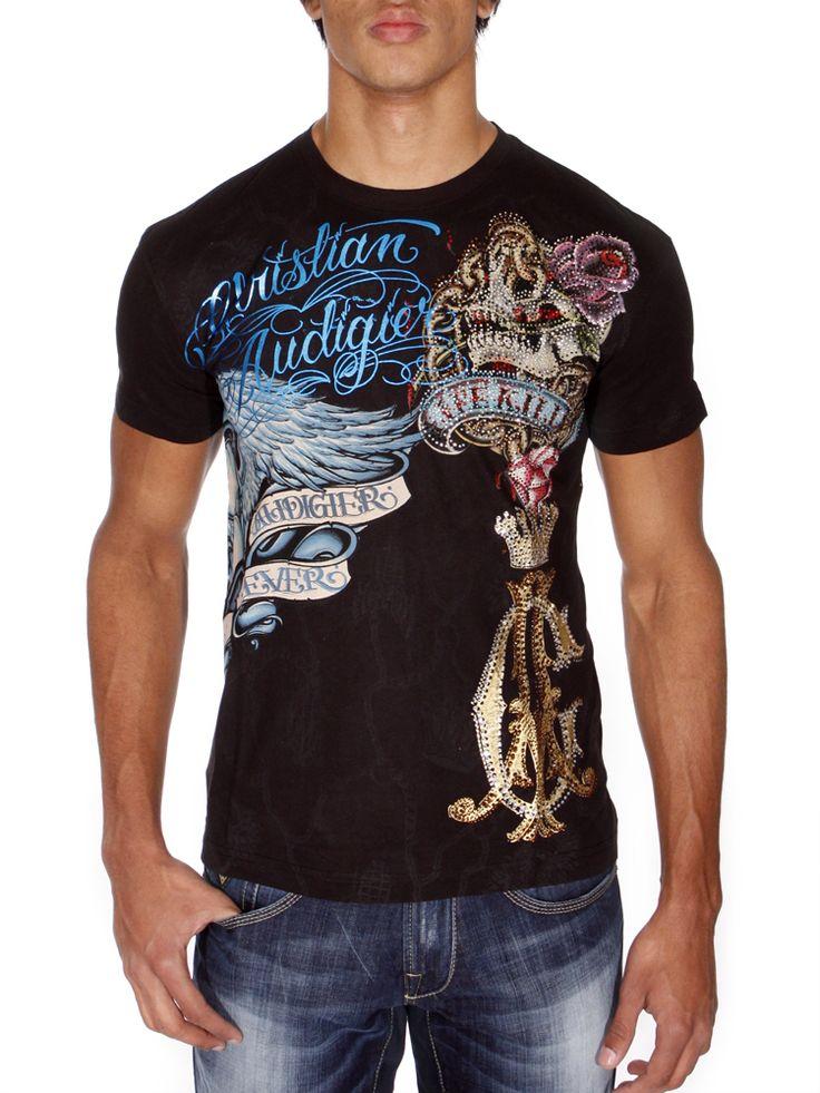 christian audigier clothing   Shirt Christian Audigier noir photo 1