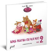 Rime pentru cei mai mici Vol.2-Lucia Muntean; Varsta:2-4 ani; Cartea  continuă seria titlurilor gândite special pentru a-i captiva pe copii de la prima lor întâlnire cu cartea. Veți descoperi între paginile acestei cărți versuri instructive și amuzante despre familie, frați mai mici, jucării, anotimpuri, animale și personaje de poveste care își dau mâna cu cititorii și cu desenele încântătoare realizate de Livia Coloji pentru o aventură inedita.