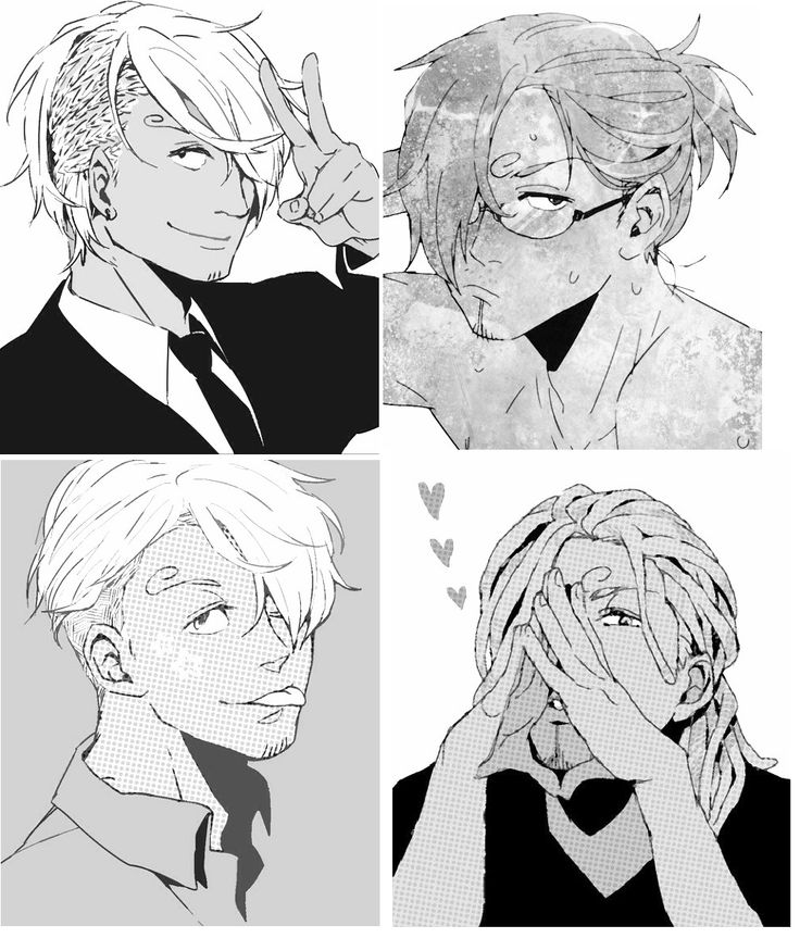Different Sanji hairstyles