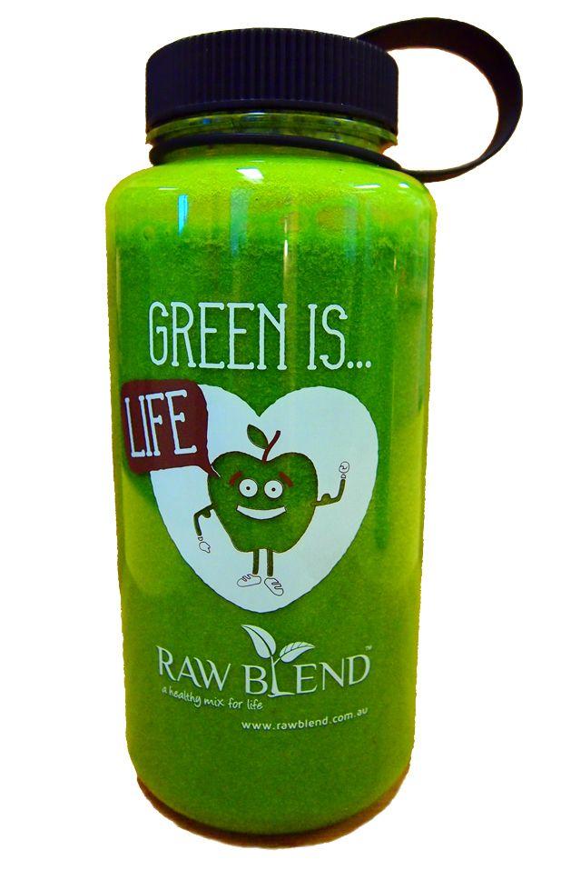 Raw Blend - Raw Blend Green Smoothie Bottle (1 Litre, BPA free), $14.95 (http://shop.rawblend.com.au/raw-blend-green-smoothie-bottle-1-litre-bpa-free/)