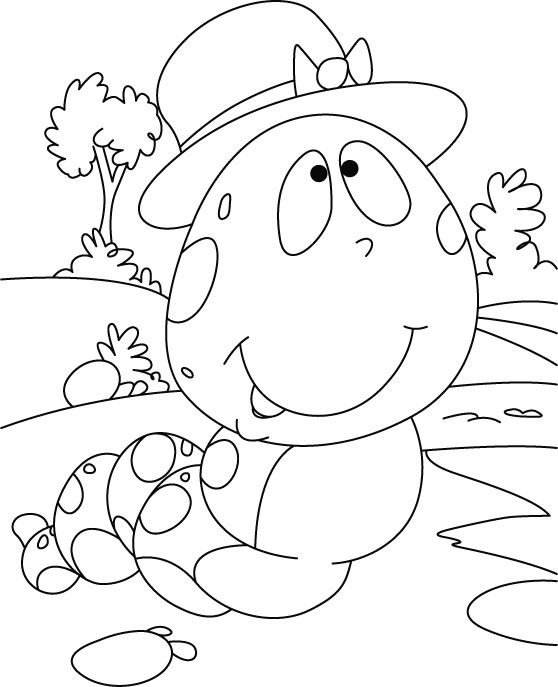 Caterpillar What Ponder Coloring Pages