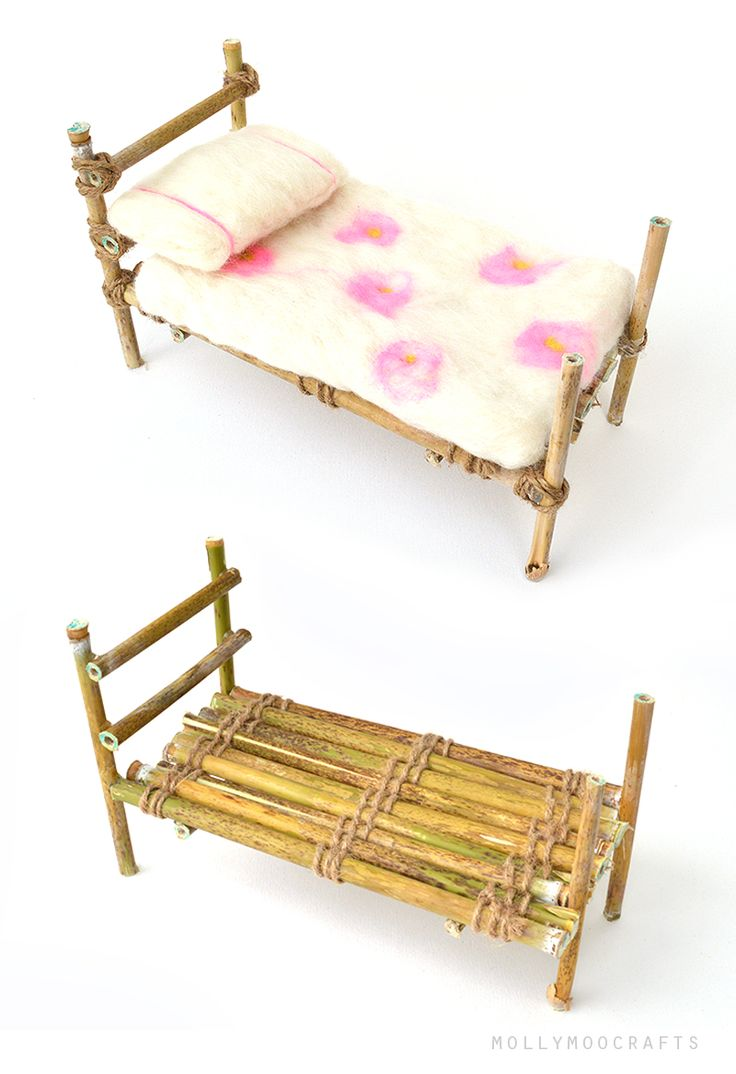 FAIRY BED - Make the perfect nature crafted bed for the fairies from willow twigs and twine :) | MollyMooCrafts.com