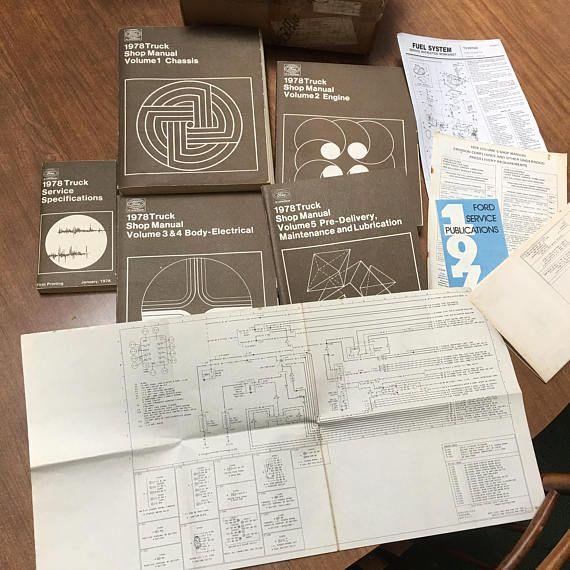 Original 1978 Ford 150 Truck Repair Manuals  Complete set of
