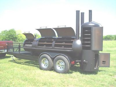 NEW Custom BBQ pit Charcoal grill Smoker style Trailer | Business & Industrial, Restaurant & Catering, Commercial Kitchen Equipment | eBay!