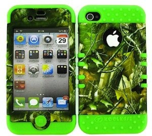 Amazon.com: BUMPER CASE FOR IPHONE 4 SOFT LIME GREEN SKIN HARD FOREST CAMO GREEN LEAVES COVER: Cell Phones & Accessories