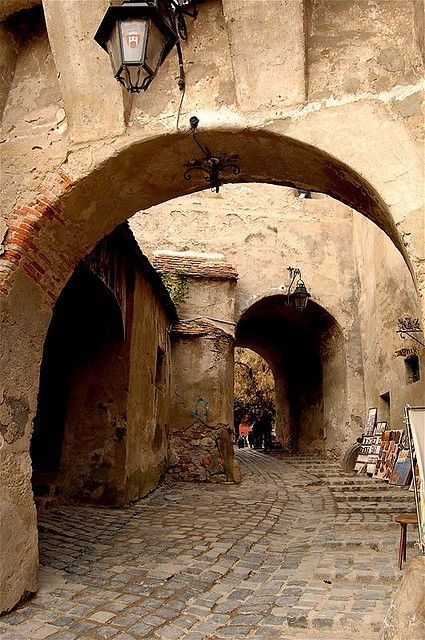 Archway, Sighisoara, Mures county, Romania.