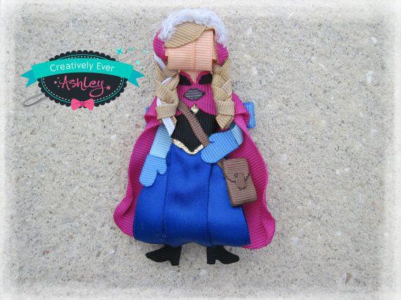 Anna frozen inspired hair clip by CreativelyEverAshley on Etsy, $13.00