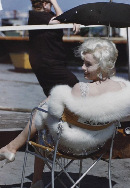 Marilyn Monroe on the set of Some Like It Hot (1959)