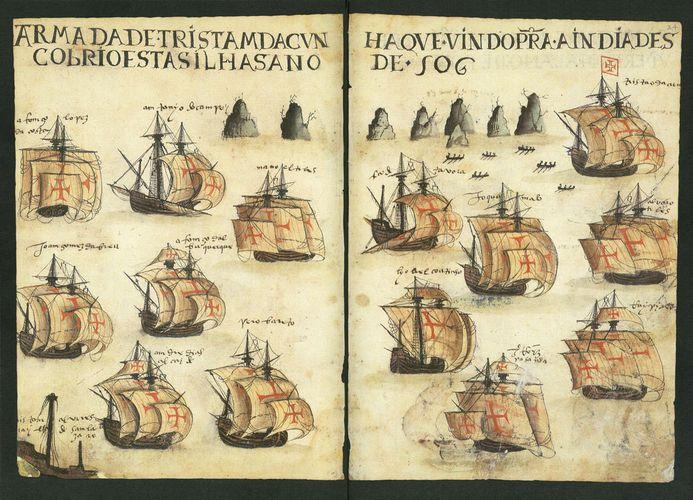 Armada of Tristan da Cunha from Lisbon to India (1506)