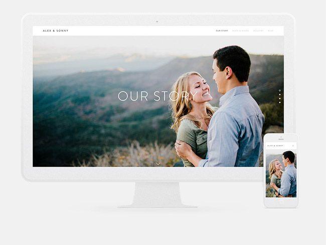 Squarespace wedding websites