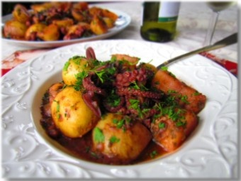 Croatian octopus stew