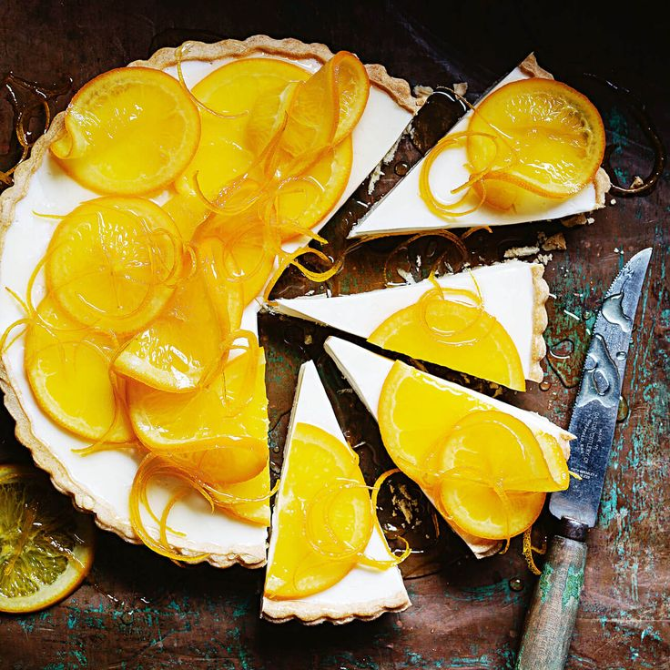 How to make an Orange Yoghurt Tart - a delicious citrus treat you can warm up to! #Orange #Yoghurt #Tart #Citrus #Dessert #Recipe
