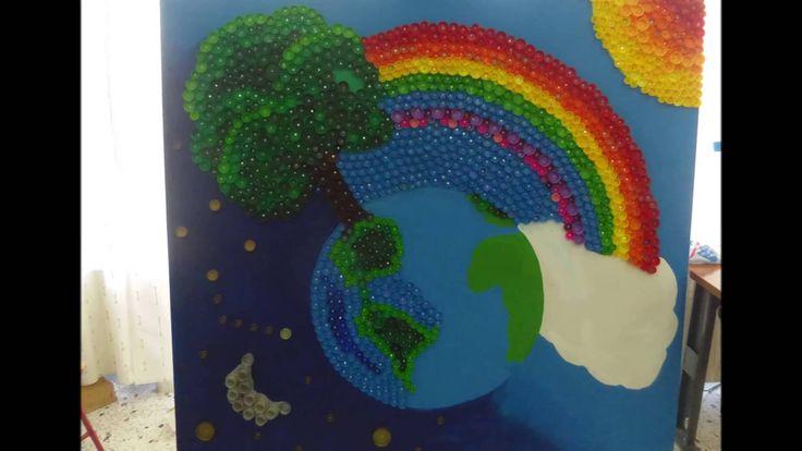 """""""Βιδομάνια"""" Ανακύκλωση και τέχνη με πλαστικά καπάκια - 26ο & 29ο Δ. Σ. Α..."""