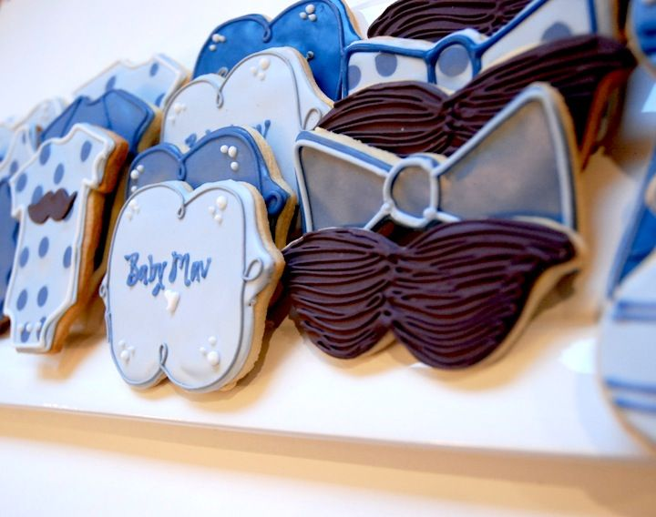 #sugarcookies for boy's baby shower