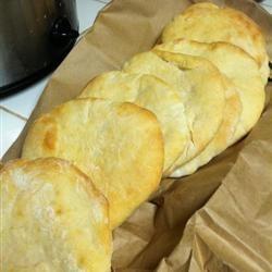 Fresh pita bread is the ONLY way to eat pita bread!  Fantastic and easy recipe :)  Great with Gyros and Falafel!