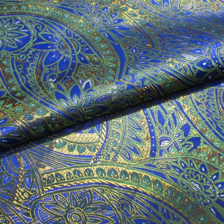Goedkope saffier blauw groen goud sierlijke paleis prachtige stijl brokaat stof/zijde satijn stof/prestaties kostuum een halve meter, koop Kwaliteit Textiel& stof ambachten rechtstreeks van Leveranciers van China: Zijn er nog zwart plus groene?????? Klik directeEr zijn een andere rode doorklikken??????omdat gouddraad geweven in de s
