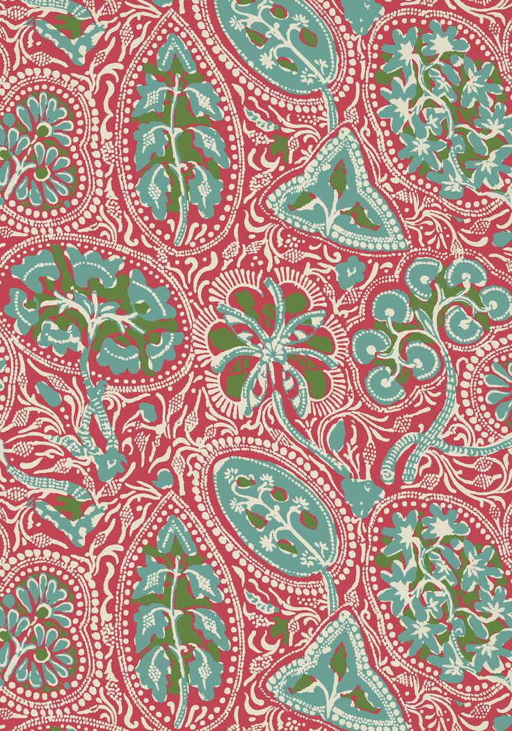 COCHIN, Pink, T88719, Collection Trade Routes from Thibaut | Pretty in Pink | Fabric wallpaper ...