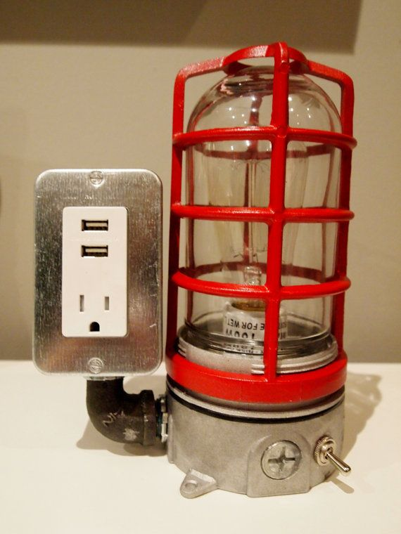 The BOSS Mariner  USB Charger & Lamp by BossLamps on Etsy