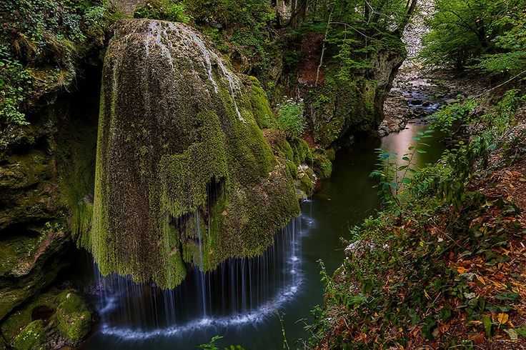 ROMANIA – Bigar Cascade Falls (Izvorul Bigăr), Cheile Nerei-Beușnița National Park, Caraș-Severin. It's located on the Nera River and on the 57B drum național , 9.2 kilometres (5.7 miles) north of the town of Bozovici. https://www.google.ca/maps/place/Bigar+Cascade+Falls/@45.0034214,21.8895581,12z/data=!4m5!3m4!1s0x4751c86bb145fb7b:0x87e56ee6202206fb!8m2!3d45.0034214!4d21.9595959