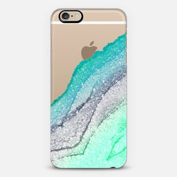 FLAWLESS SEAFOAM FAUX GLITTER by Monika Strigel iPhone 6 case by Monika Strigel | Casetify