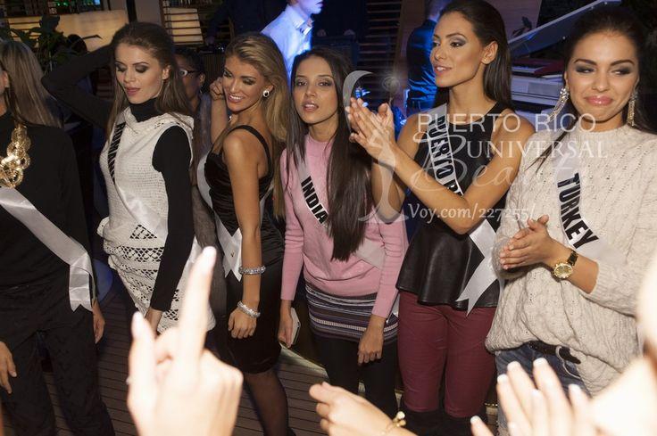 Roxana Andrei, Miss Universe Romania 2013; Amy Willerton, Miss Universe Great Britain 2013; Manasi Moghe, Miss Universe India 2013; Monic Perez, Miss Universe Puerto Rico 2013; and Berrin Keklikler, Miss Universe Turkey 2013; #MissUniverse2013 #MissUniverse #MissUniverso2013 #MissUniverso #Russia #Moscow #Rusia #Moscú #MissPuertoRico #MonicPerez