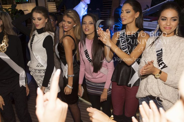 Roxana Andrei, Miss Universe Romania 2013; Amy Willerton, Miss Universe Great Britain 2013; Manasi Moghe, Miss Universe India 2013; Monic Perez, Miss Universe Puerto Rico 2013; and Berrin Keklikler, Miss Universe Turkey 2013; #MissUniverse2013 #MissUniverse #MissUniverso2013 #MissUniverso #Russia #Moscow #Rusia #Moscú #MissPuertoRico #MonicPerez