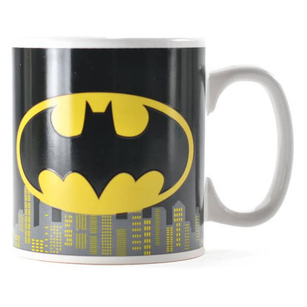 DC Comics Batman Heat Changing Mug ($9.97) ❤ liked on Polyvore featuring home, kitchen & dining and drinkware