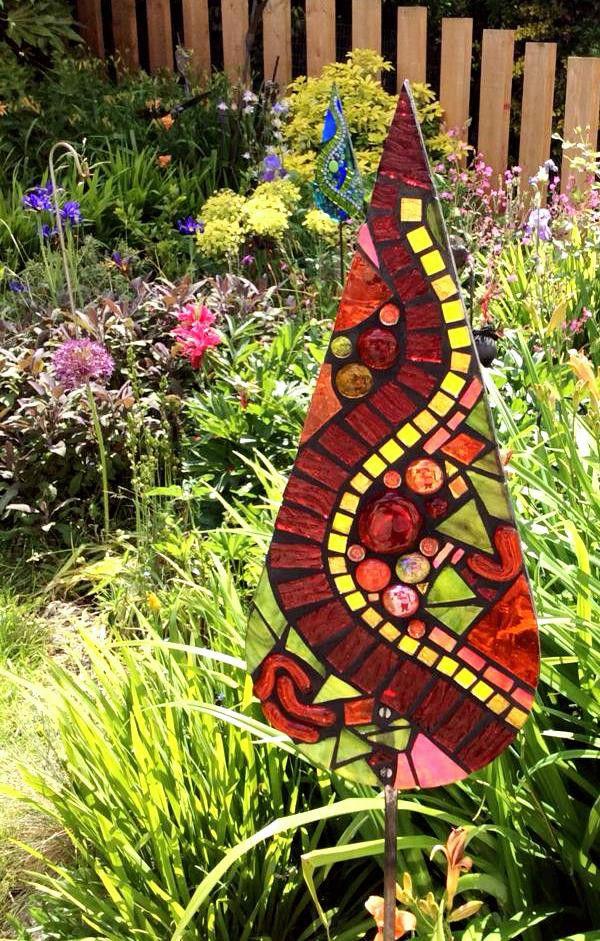 gardenmosaic glass on acrylic
