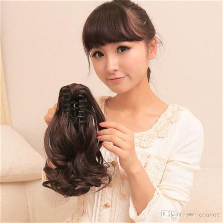 Discount Womens Claw Ponytail Hair Piece Hair Extension Medium Curly/Wavy Pony Wig Hair Ponytails Hairpieces Pt49 From China | Dhgate.Com