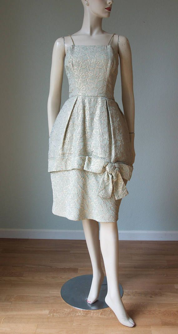 a33ad26fd3 1950s-60s Lord and Taylor Silk Brocade Lame  Dress   1950s