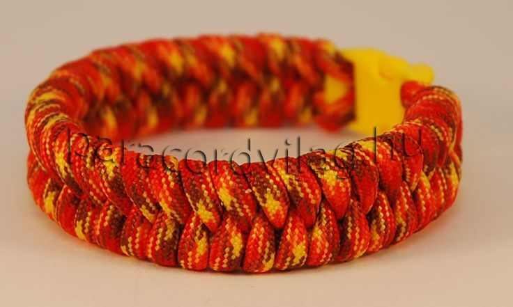 Paracord fishtail karkötő/Yellow camo