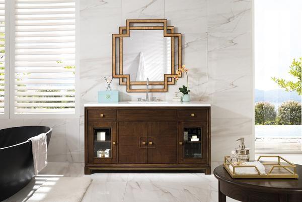 """Sydney 60"""" James Martin Warm Espresso Bathroom Vanity"""