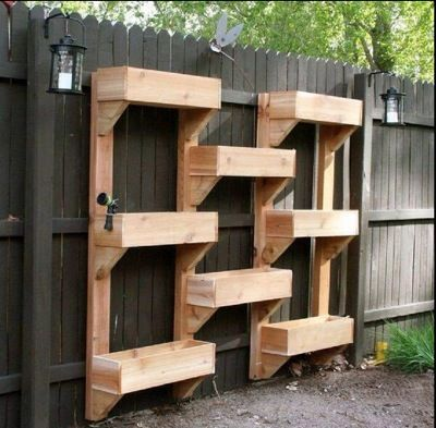 Vertical Cedar Planter