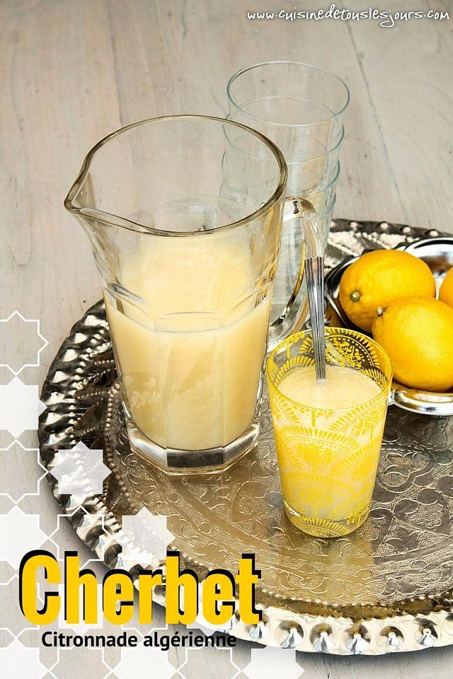 Cherbet, citronnade algérienne - - ©www.cuisinedetouslesjours.com