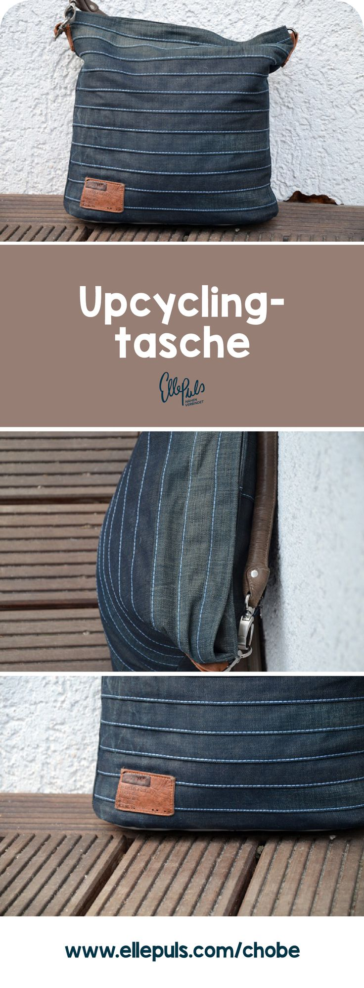 """Chobe"" Upcycling Tasche – Schnittmuster und Nähanleitung"