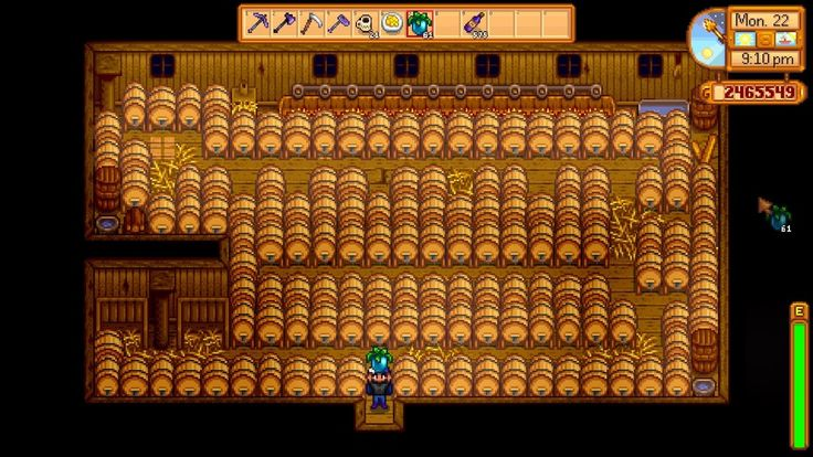 Optimal Barn-Keg layout - 136 kegs. : StardewValley
