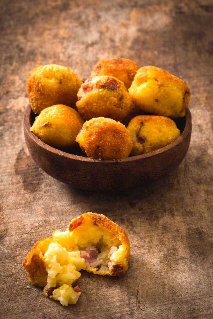 Crocchette di patate con prosciutto cotto Parmigiano e provolone, antipasto