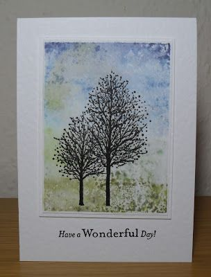 Helen's Craft Haven...: Inky Trees  Distress ink on acrylic block!