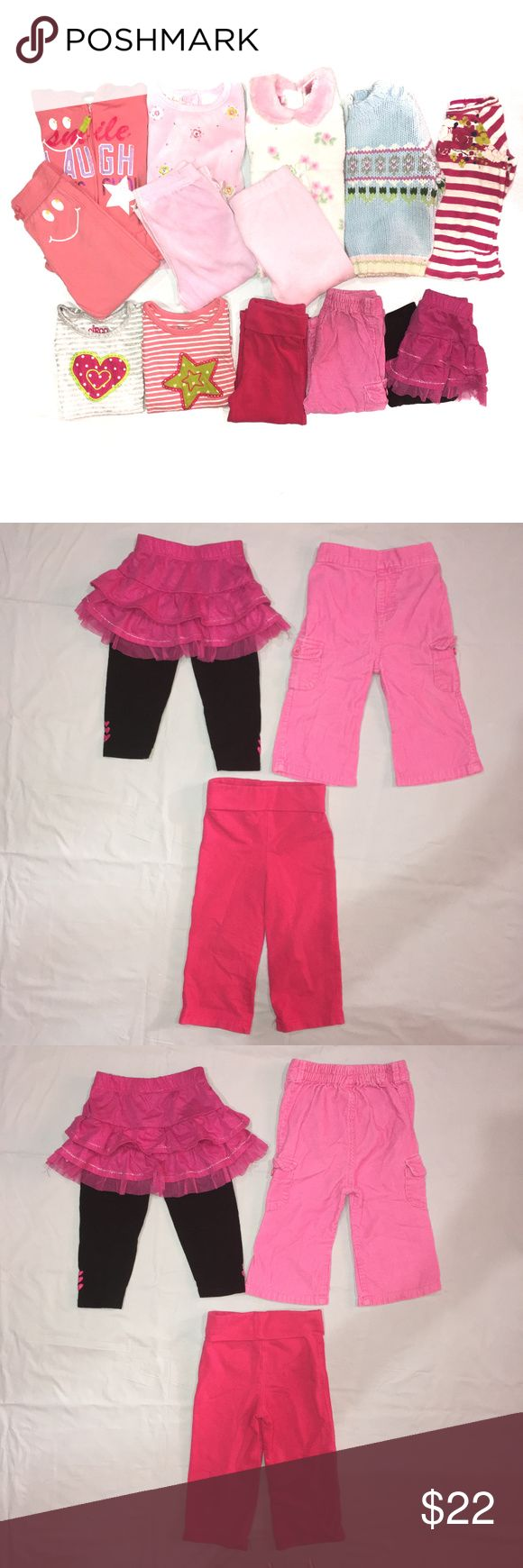 Girls Size 18M Mixed Winter Bundle Girls size 18m mixed winter bundle. Includes 2 pairs of pants, 1 skirt with tights, 3 long sleeve shirts, 1 sweater and 3 long sleeve/pants outfits. Brands include Circo, Genuine Kids from Osh Kosh, Gap, Candy Girl and more. All are in good condition but one outfit does have a couple marks as pictured. No trades, offers welcome! Circo Matching Sets