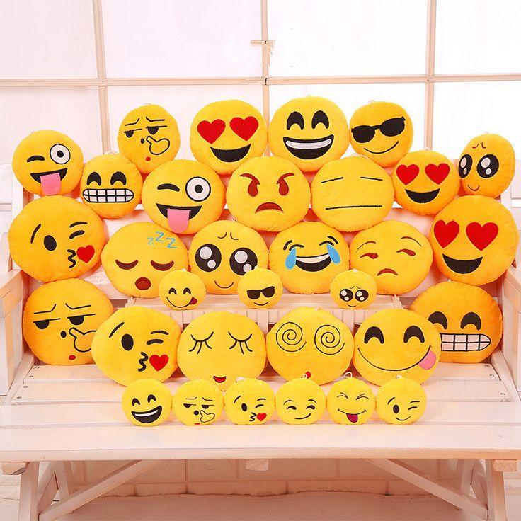 Mignon Smiley Emoji Jaune Oreillers Coussin de Bande Dessinée QQ Expression Du Visage Rond Décoratif Oreillers En Peluche En Peluche Jouet Cadeau pour les Enfants dans   de   sur AliExpress.com | Alibaba Group