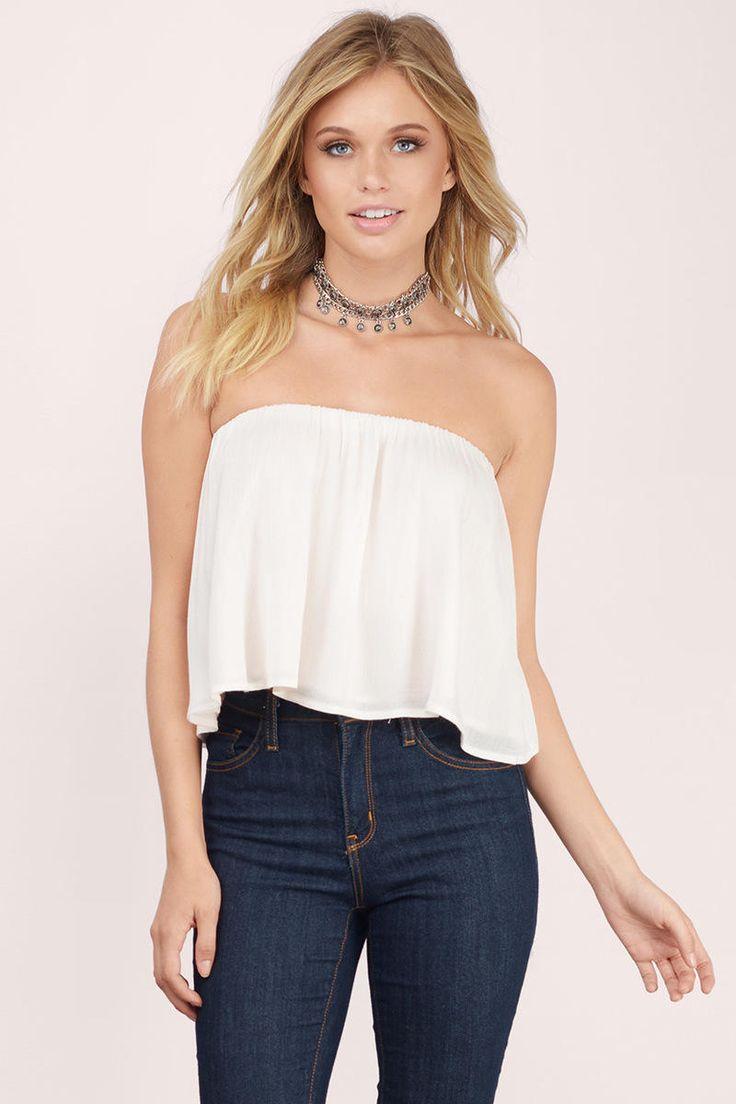 Ivy Strapless Top at Tobi.com #shoptobi