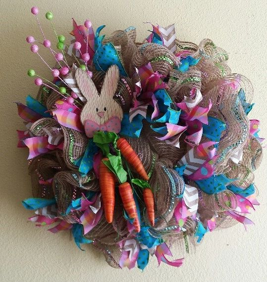 Ready to ship 20 inch Easter deco mesh by NancysNowandForever