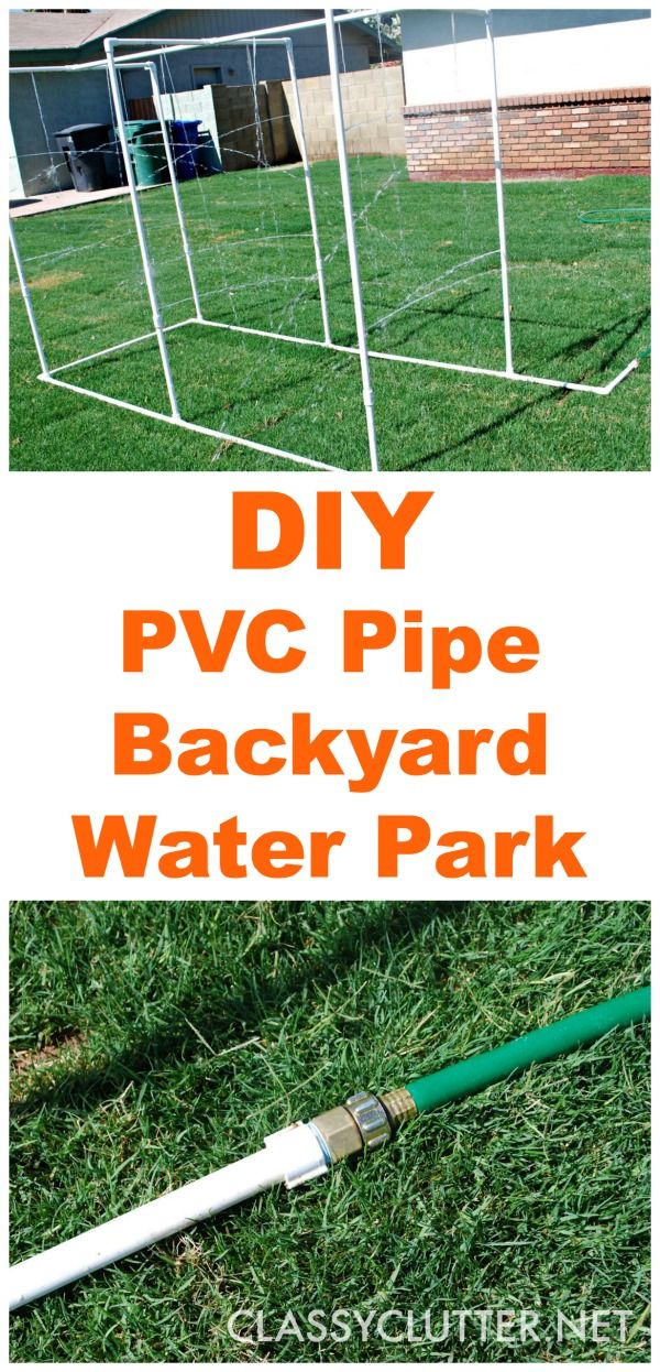 Sweet!  I definitely want to make one of these for my kids and nieces and nephews. DIY PVC Backyard Water Park -