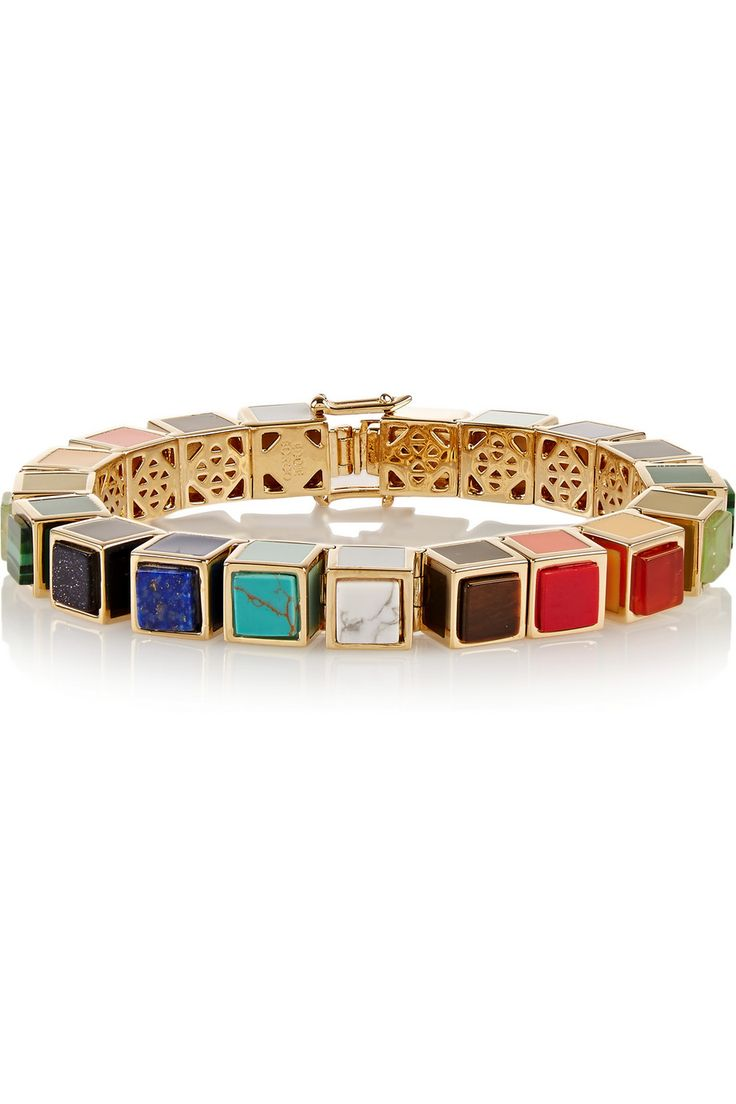 Eddie Borgo   Gold-plated multi-stone bracelet