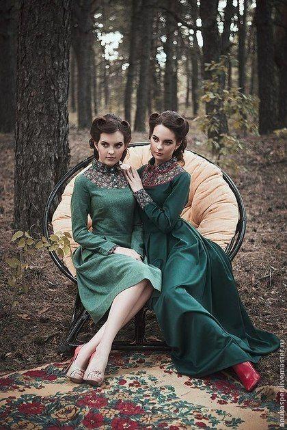"""Платья ручной работы. Платье в пол """"Темно- зеленое """". Ану Каспер. Ярмарка Мастеров. Платье дизайнерское"""