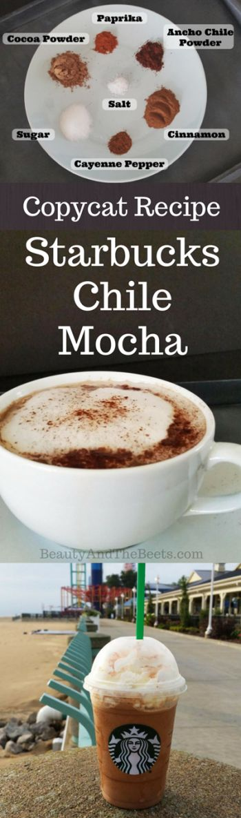 Copycat Recipe Starbucks Chile Mocha by Beauty and the Beets #StarbucksChileMocha