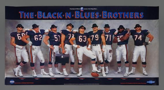 n blues brothers poster chicago bears